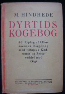 Image of Mikkel Hindhede's cookbook for times of scarcity from 1915