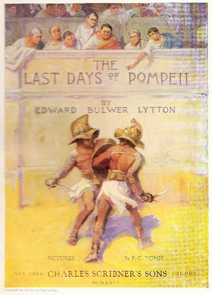 Title page for Last Days of Pompeii